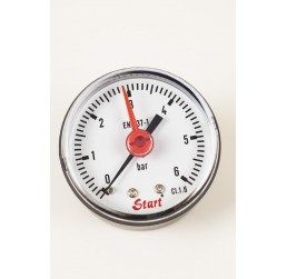 Foot pump pressure gauge